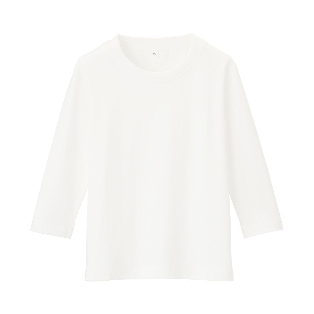 インド綿天竺編み 長袖Tシャツ(ベビー)
