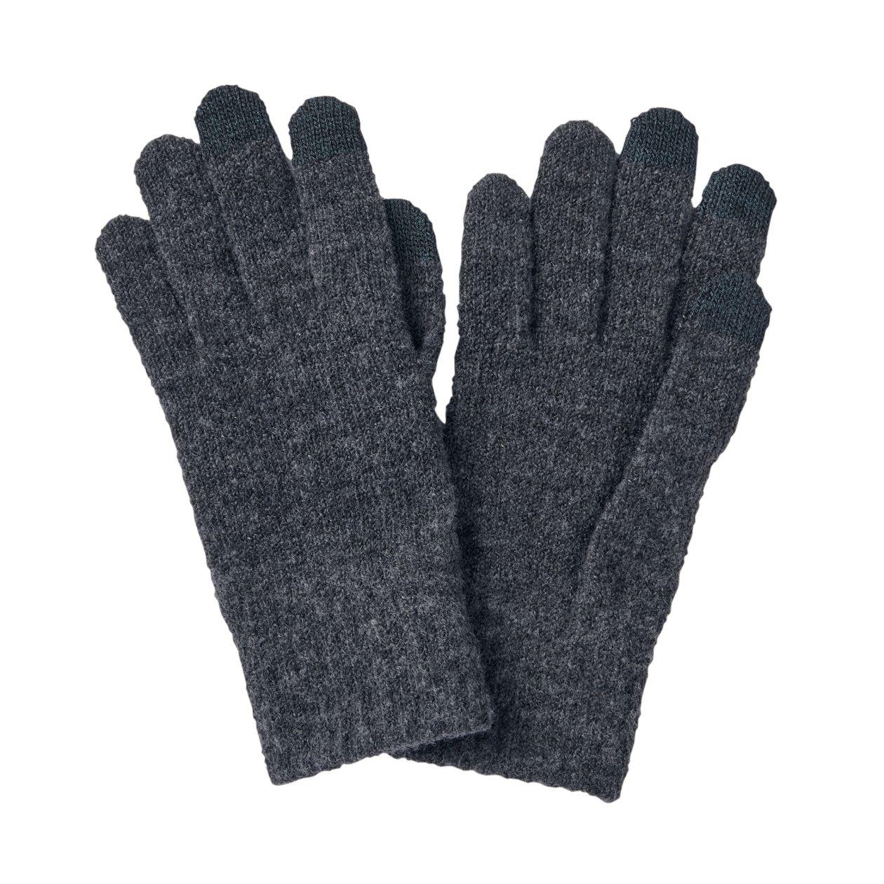 ウール混裏起毛タッチパネル手袋