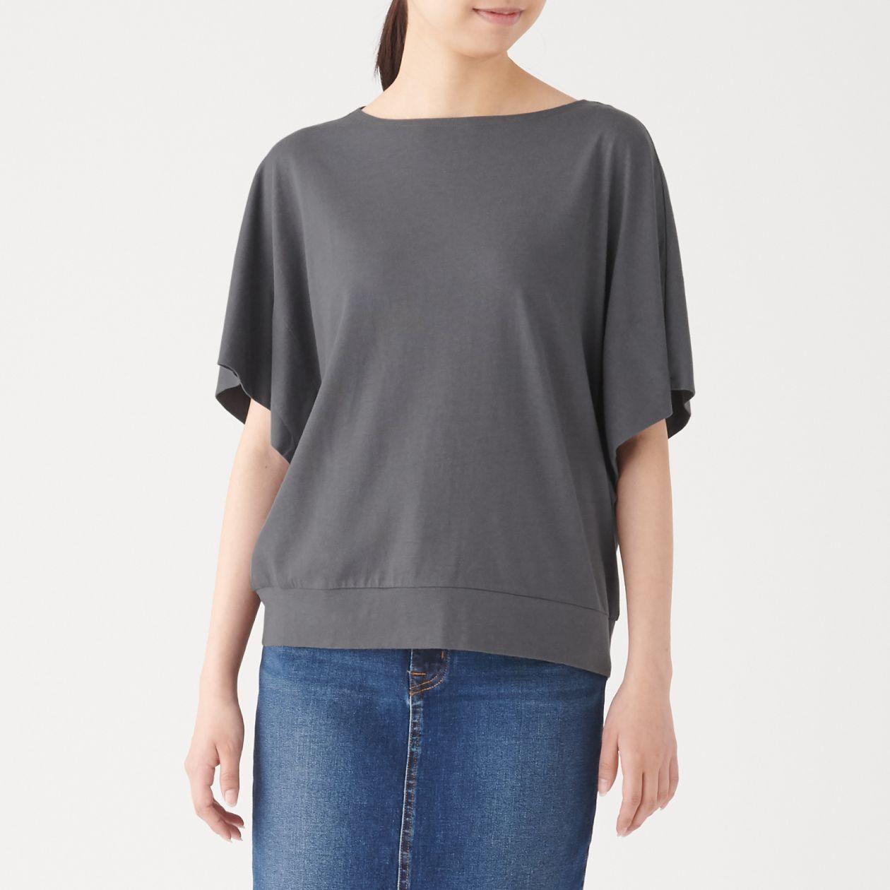 コットンレーヨンワイドドルマンTシャツ(半袖)