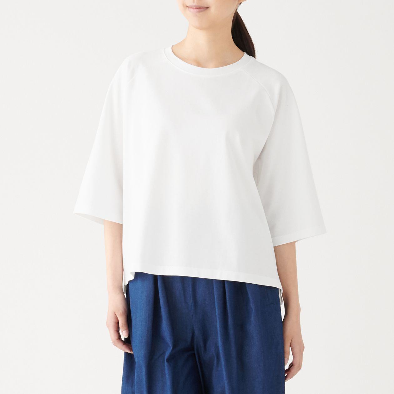 XINJIANG COTTON PIQUE 3/4 SLEEVE T-SHIRT