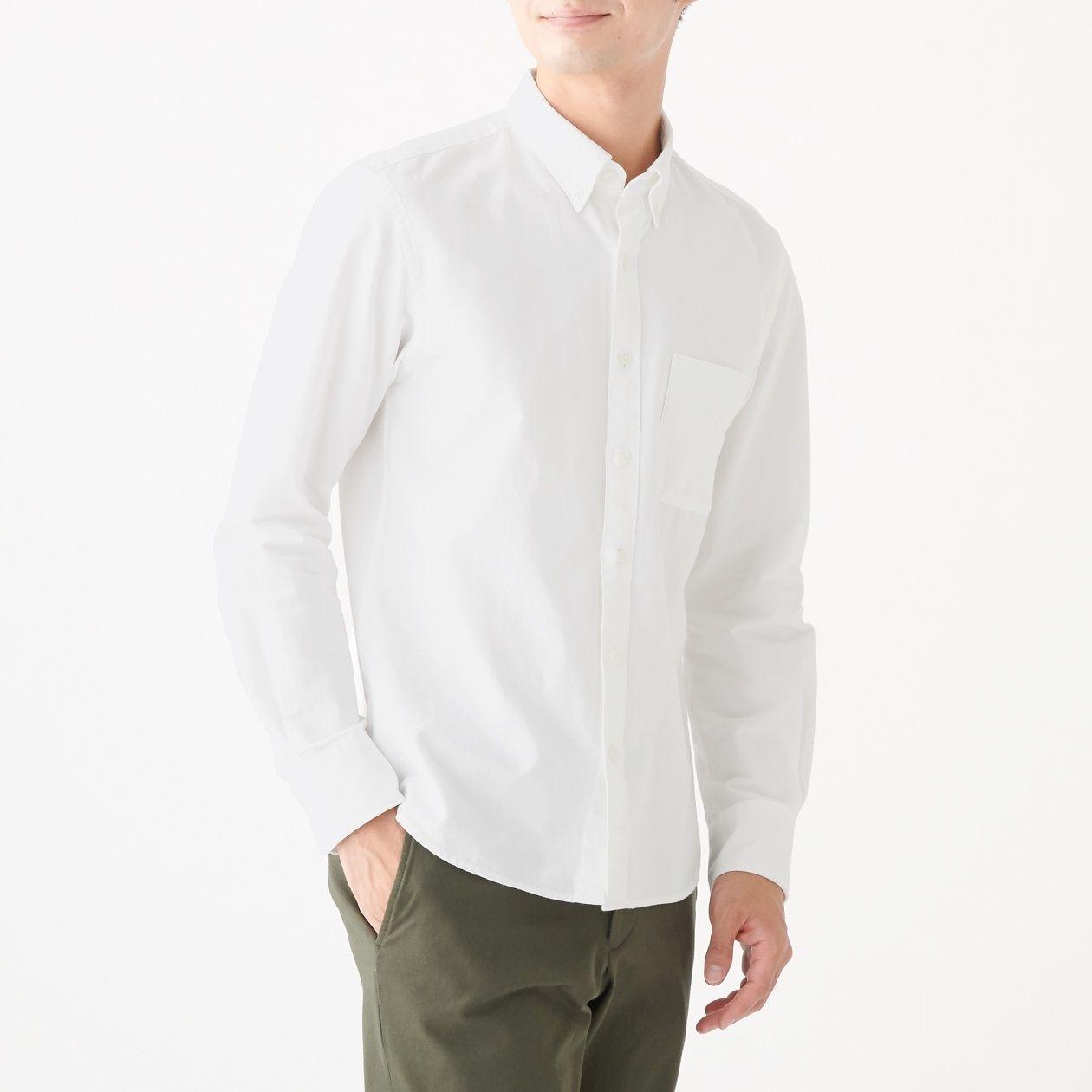 新疆綿洗いざらしオックスボタンダウンシャツ