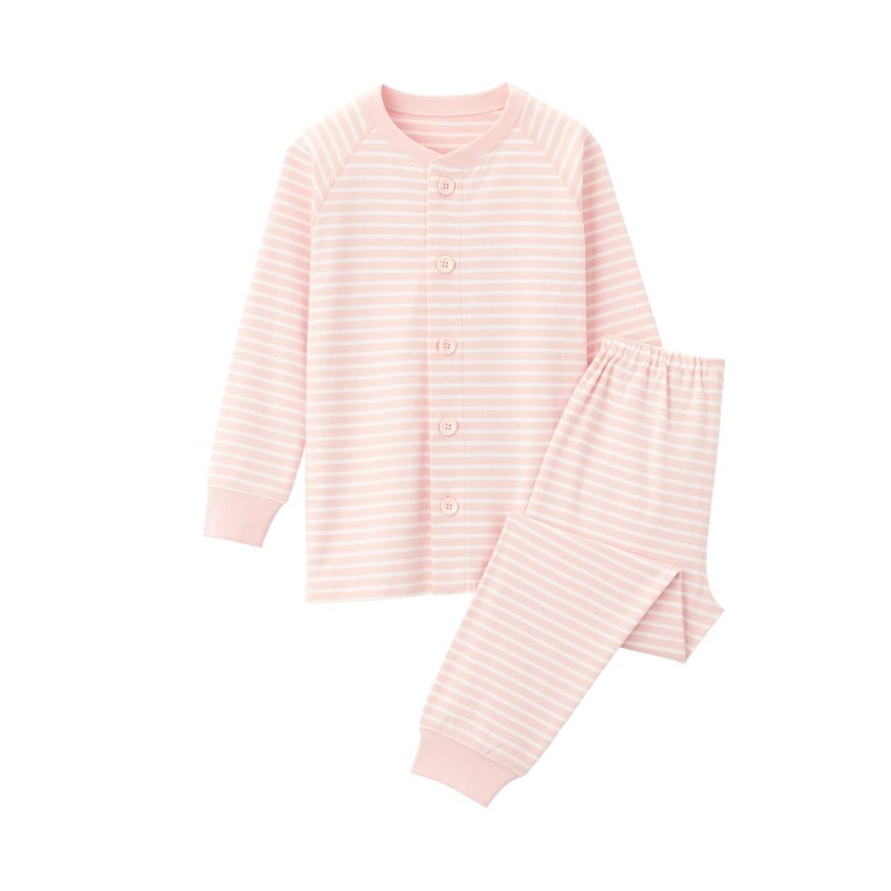 脇に縫い目のない スムース編みパジャマ(キッズ)