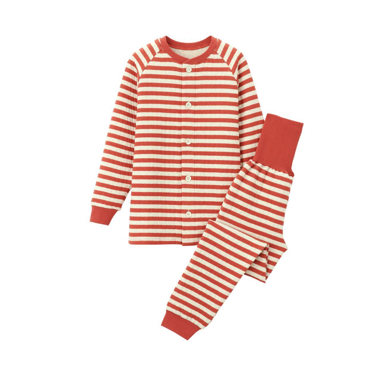 脇に縫い目のない キルトはらまき付きパジャマ(キッズ)