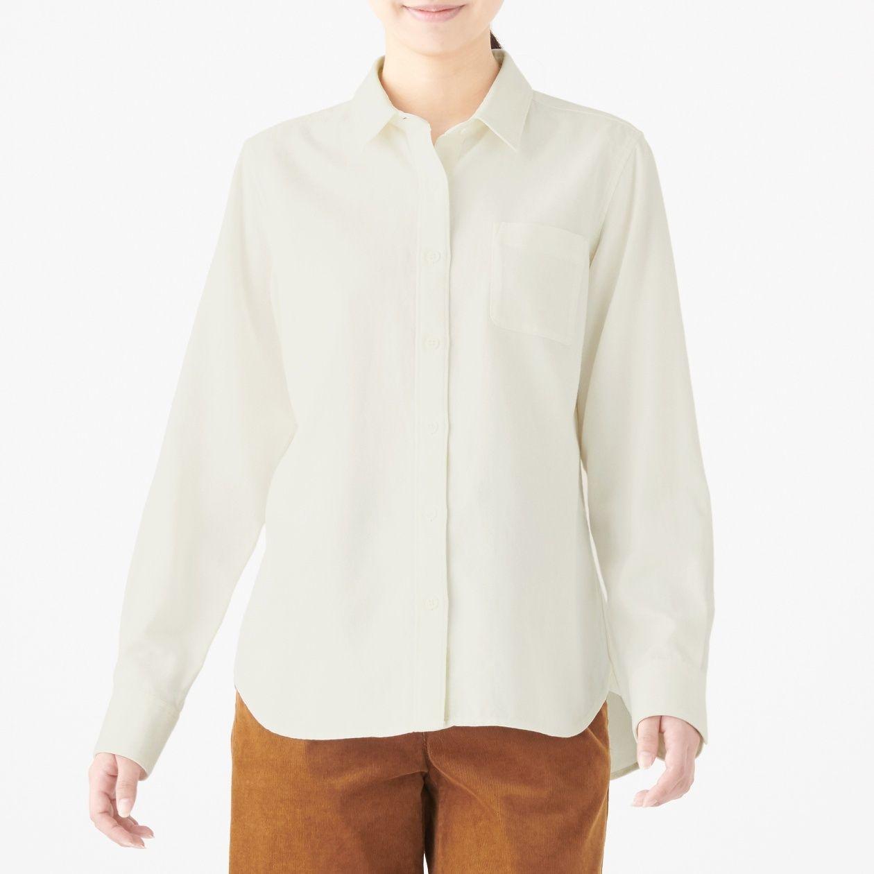新疆綿フランネルシャツ