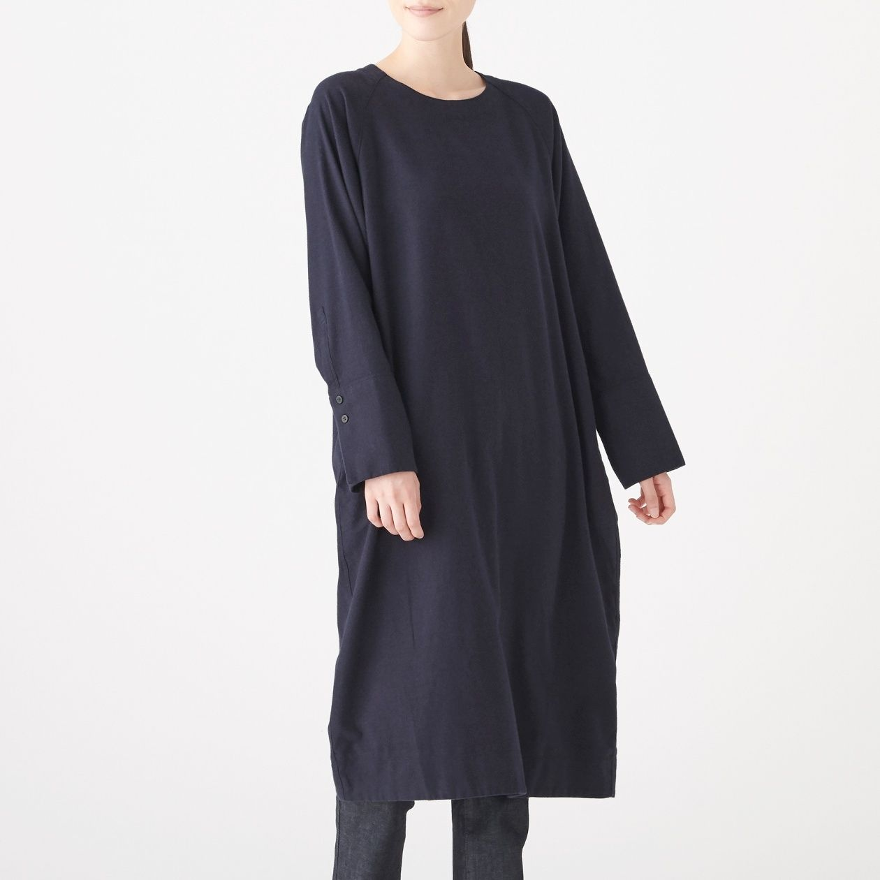 XINJIANG COTTON FLANNEL PULLOVER DRESS