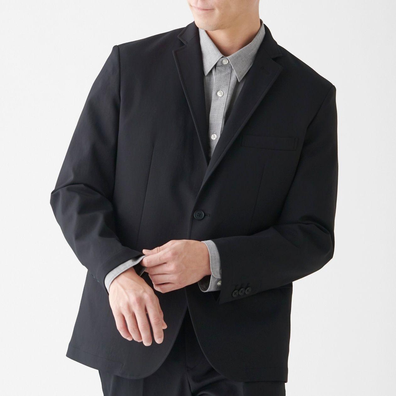 ストレッチ二重織りジャケット