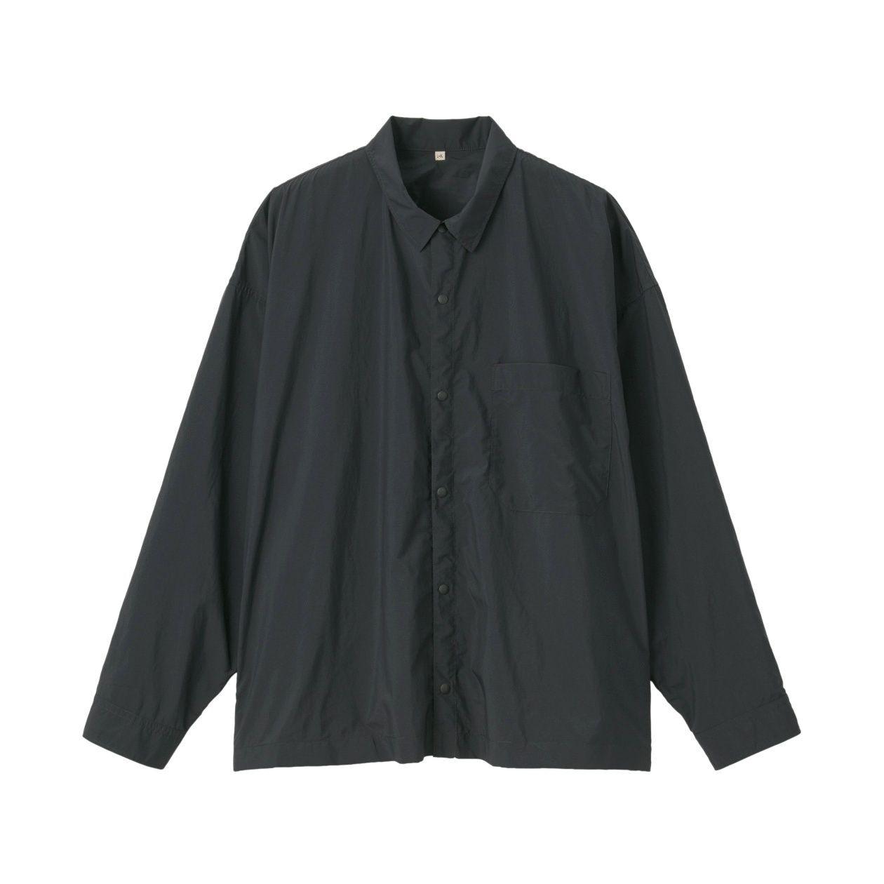 撥水ドロップショルダーシャツ XXS~XS・黒