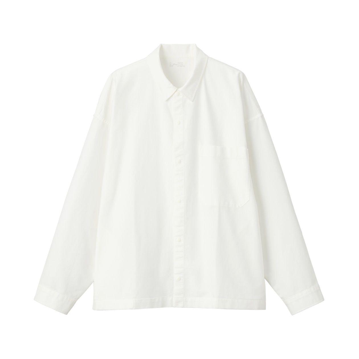 綿オックスフォードドロップショルダーシャツ