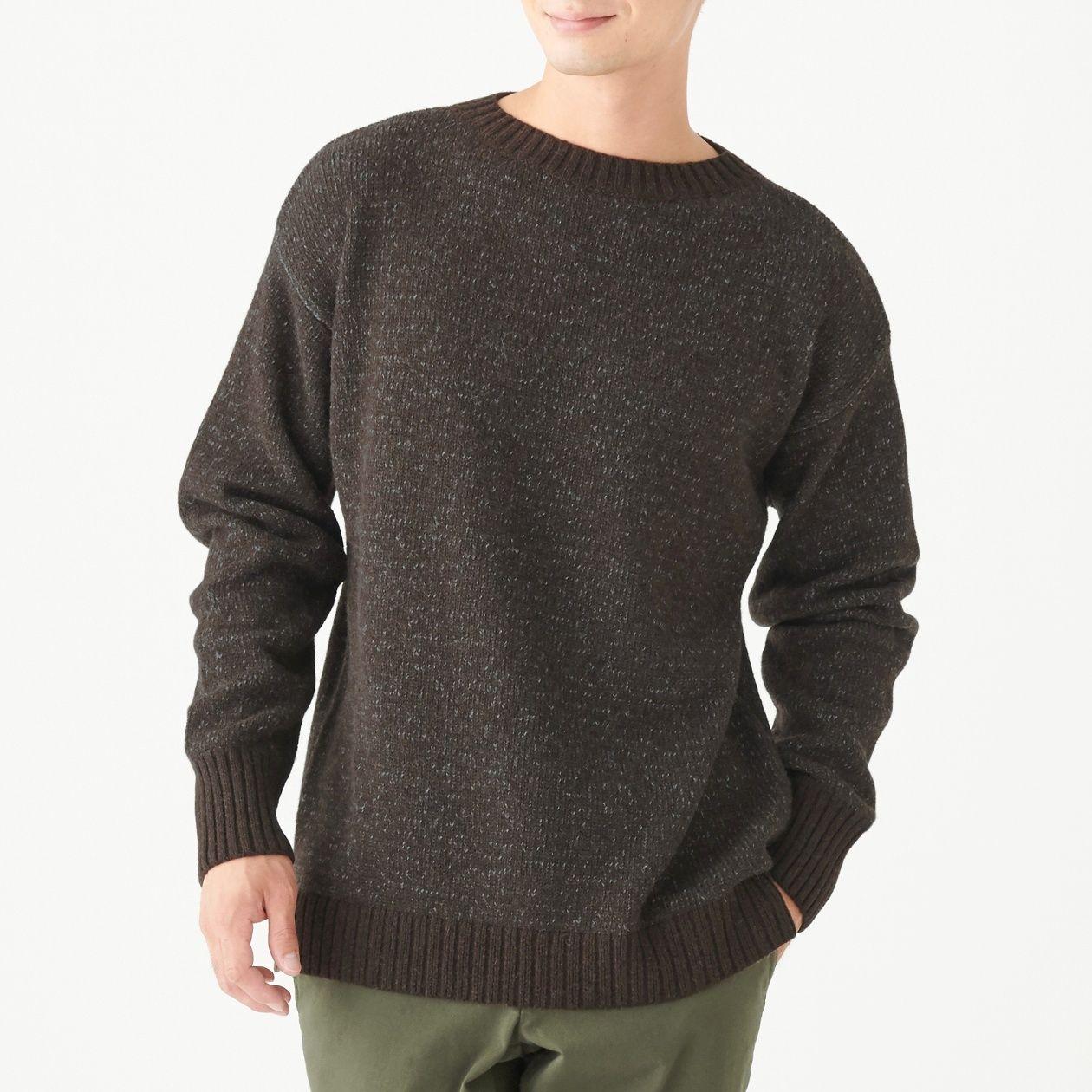 再生ウール混セーター