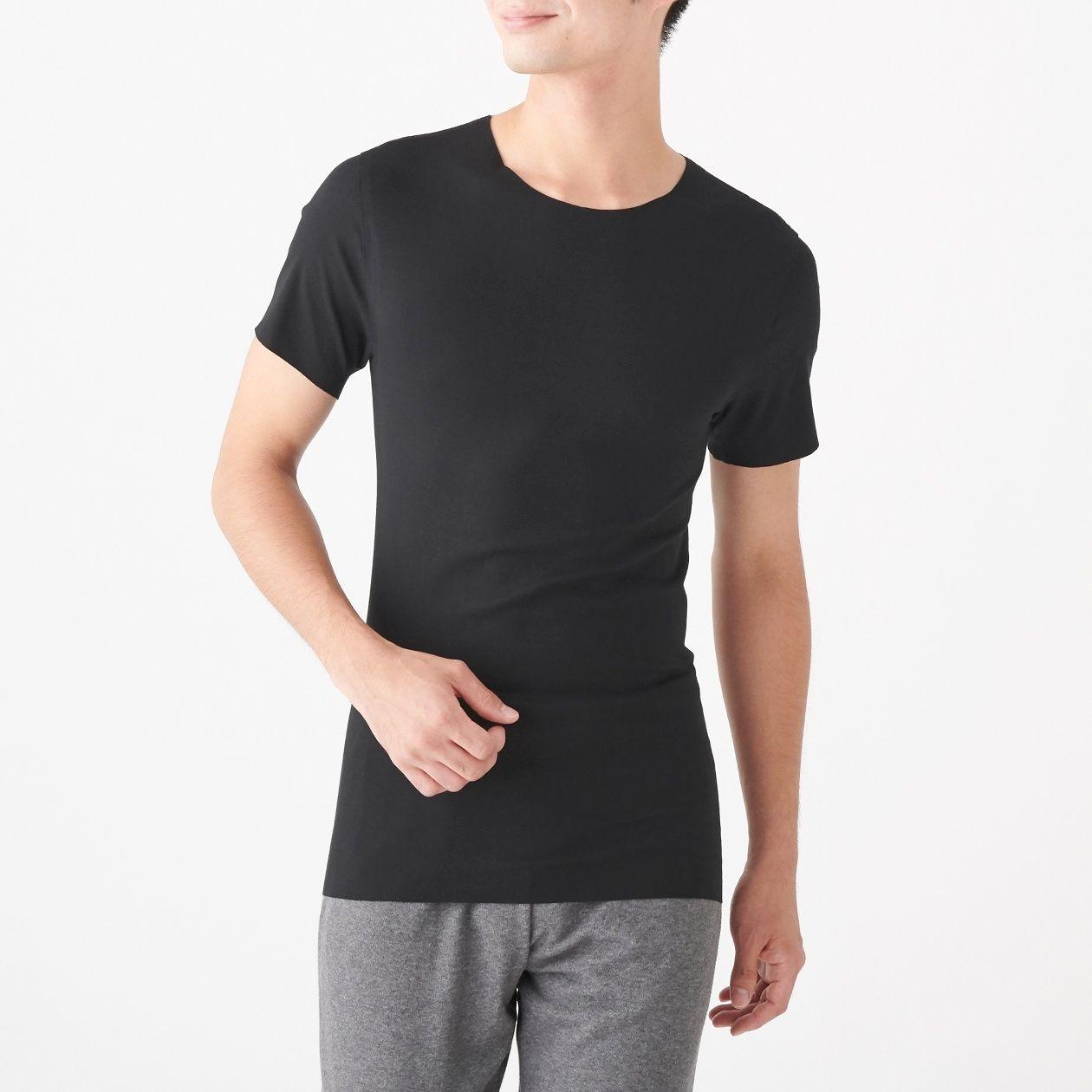 どこにも縫い目がないクルーネック半袖Tシャツ