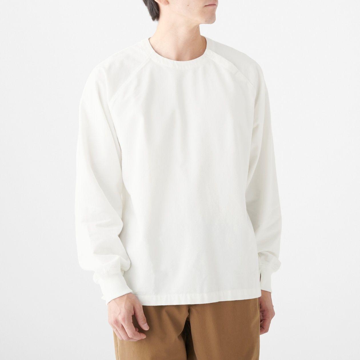 新疆綿フランネルプルオーバーリブ付シャツ