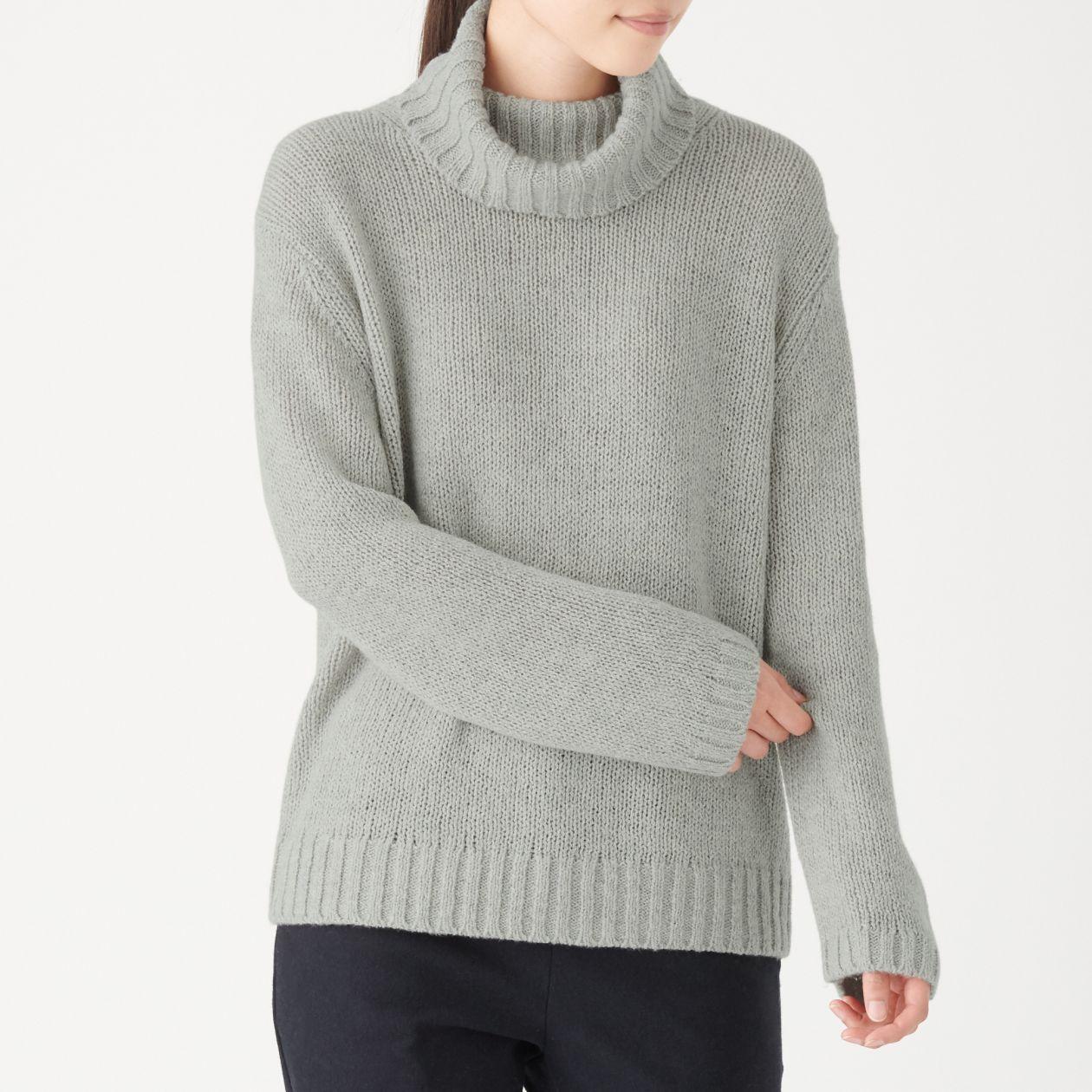 ヤク入りウールタートルネックセーター