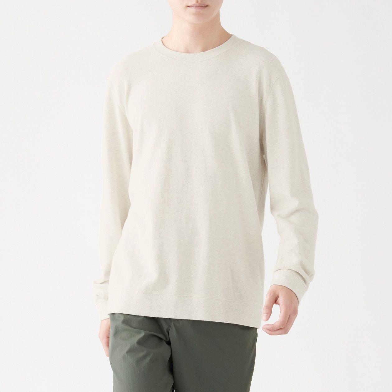 新疆綿 天竺編み甘撚り長袖Tシャツ