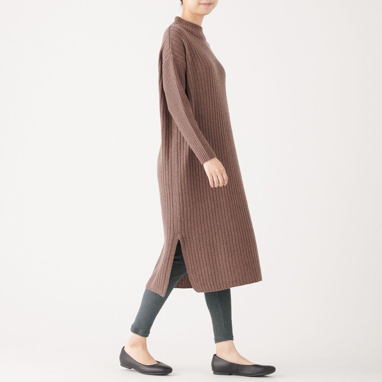 ストレッチリブ編み十分丈レギンス