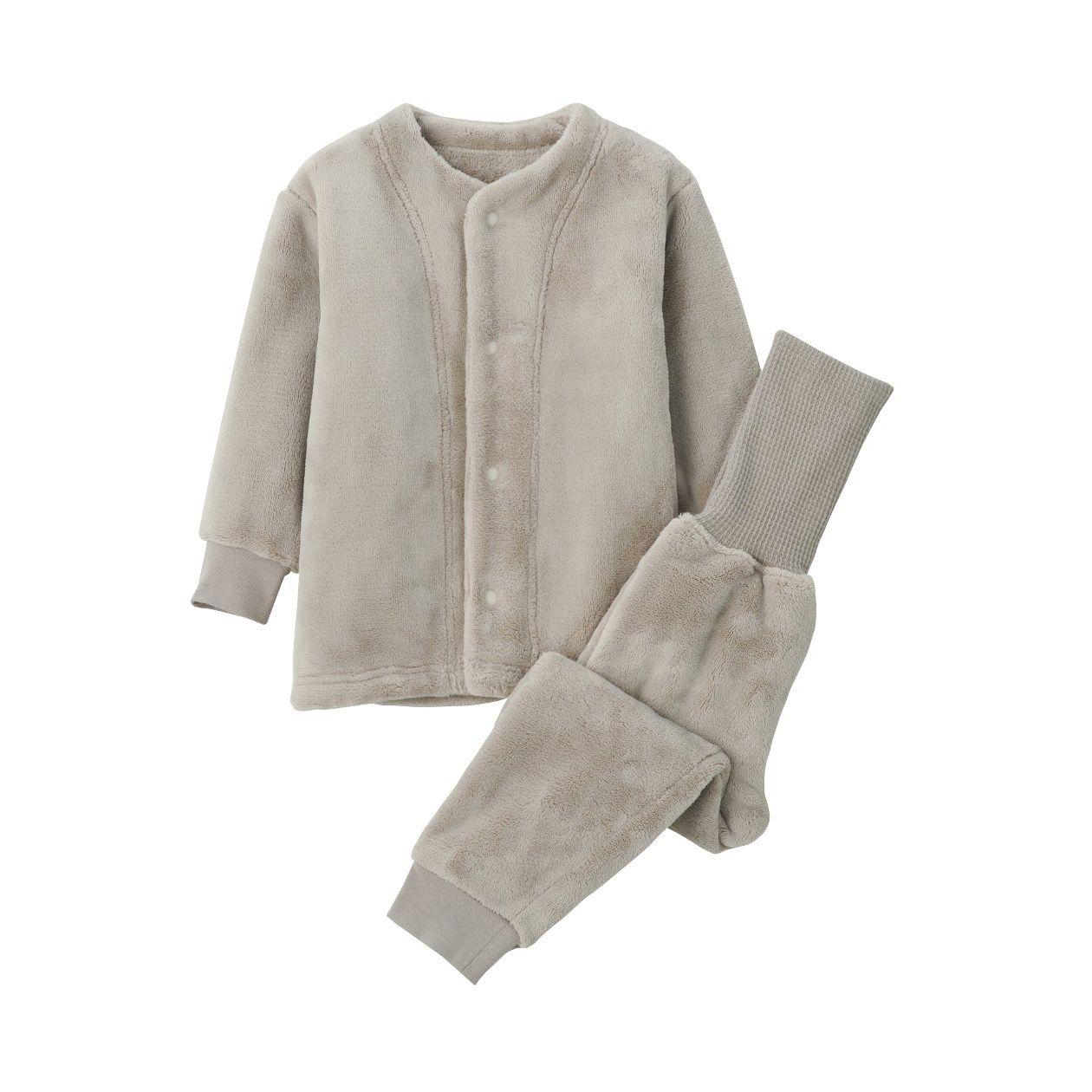 ボアフリース 着る毛布はらまき付きパジャマ(ベビー)