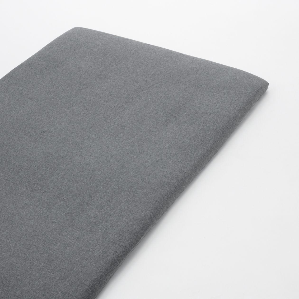 綿フランネル敷ふとんシーツ・ゴム付き・S/杢グレー