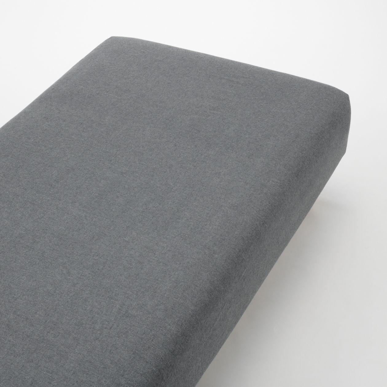 綿フランネルボックスシーツ・S/杢グレー