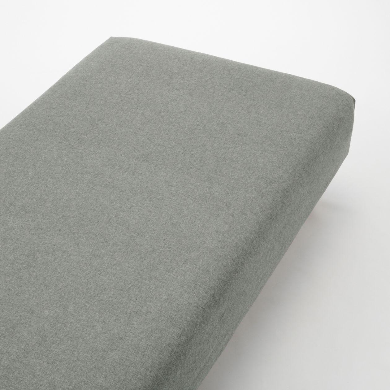 綿フランネルボックスシーツ・S/杢ブラウン