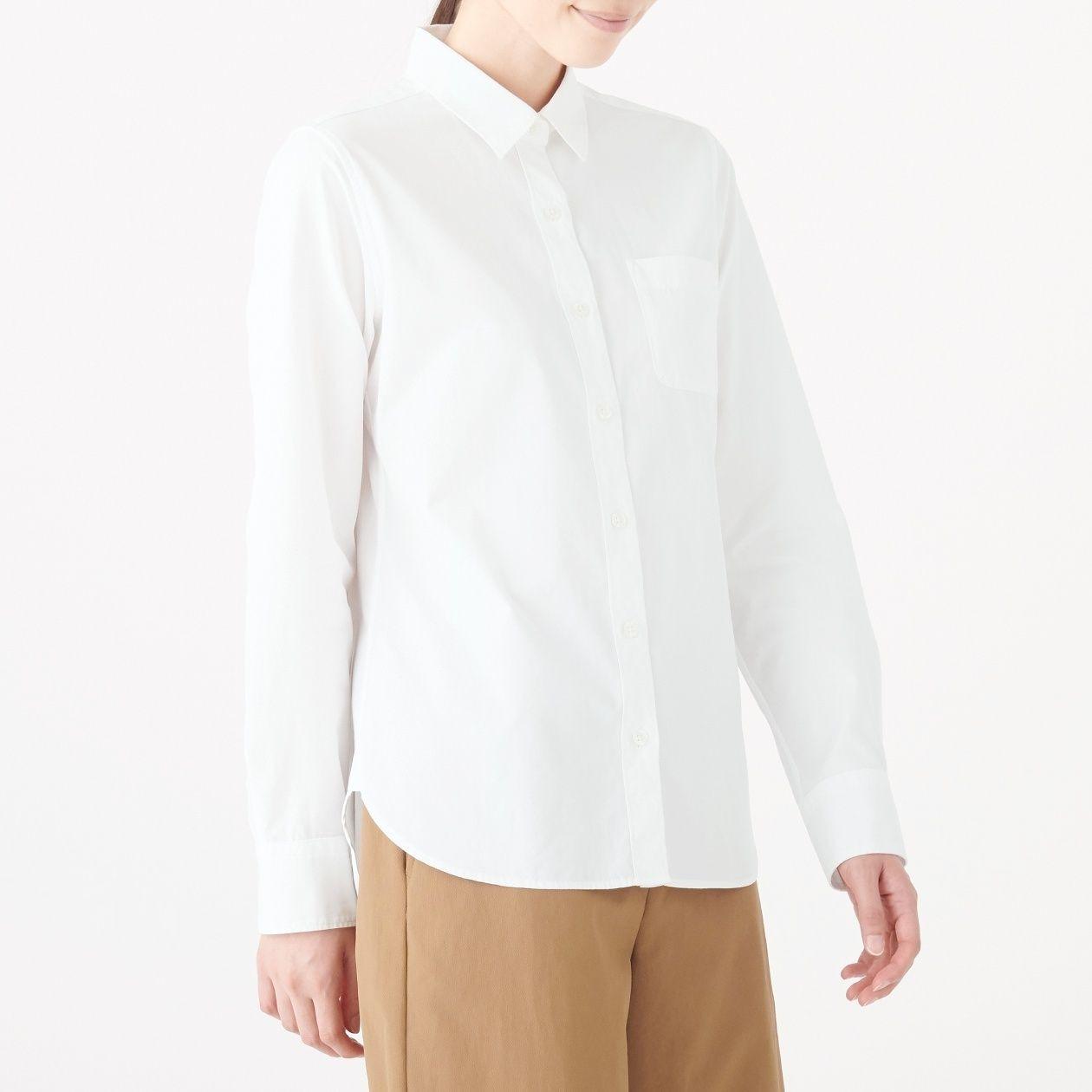 超長綿洗いざらしブロードシャツ