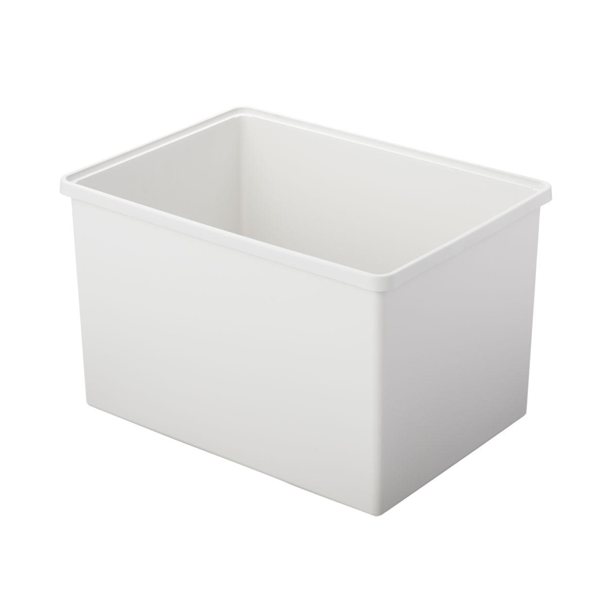 【ネット限定】ポリプロピレン収納ボックス・ワイド・深・ホワイトグレー