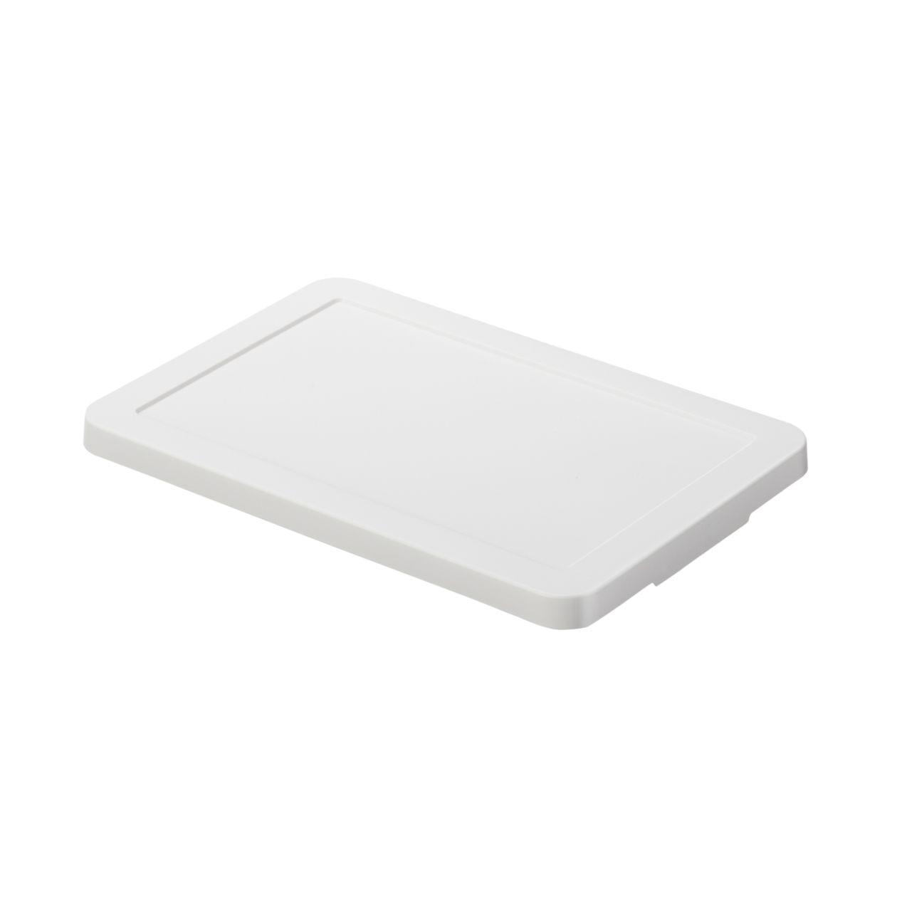 【ネット限定】ポリプロピレン収納ボックス用フタ・ホワイトグレー