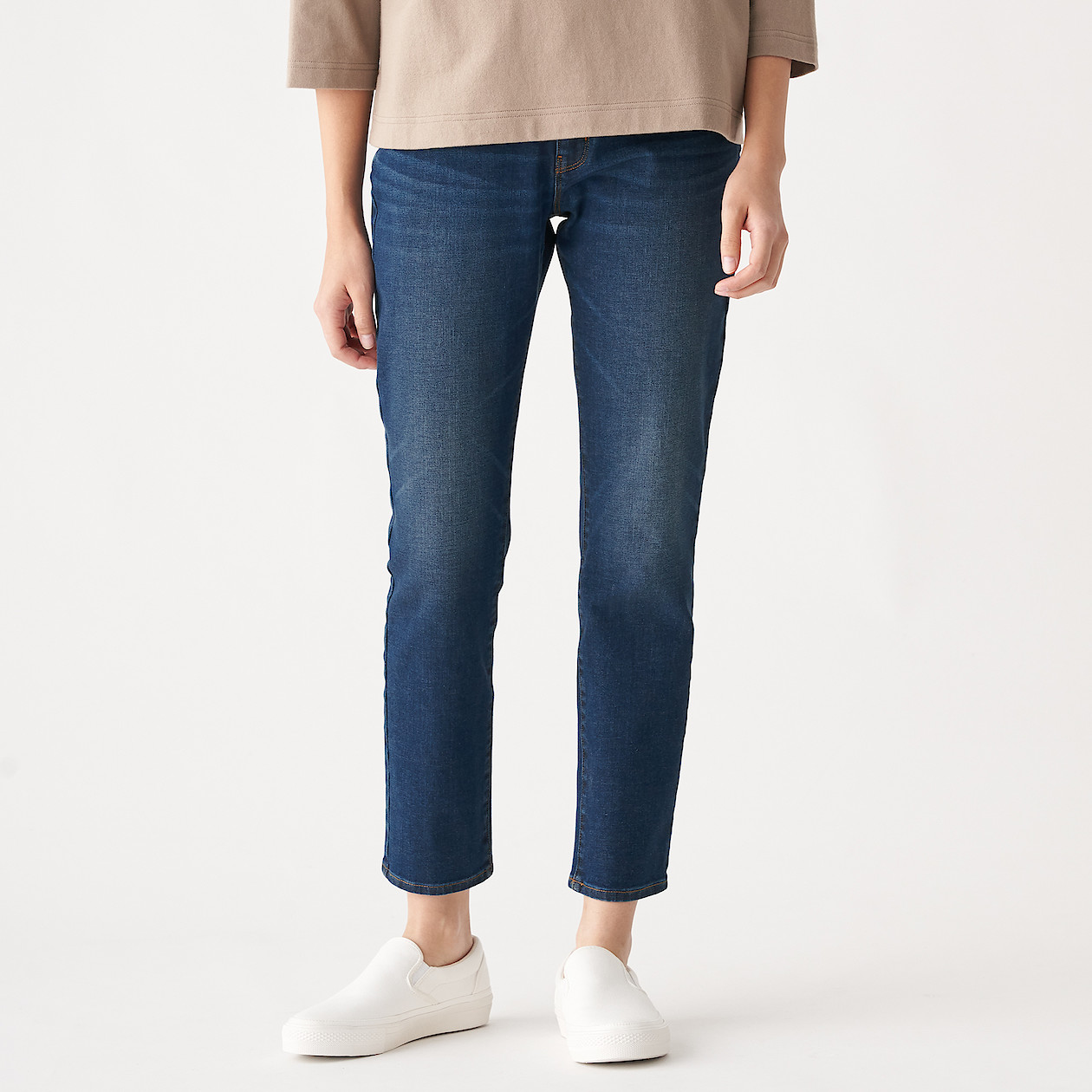Ladies' Organic Cotton 4-Way Stretch Denim Slim Straight