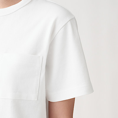 WIDE COUNT JERSEY STITCH CREW NECK SS T SHIRT | MUJI