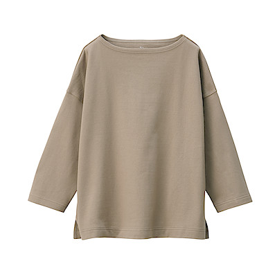 WIDE COUNT JERSEY STITCH DROP SHOULDER T SHIRT (34) | MUJI