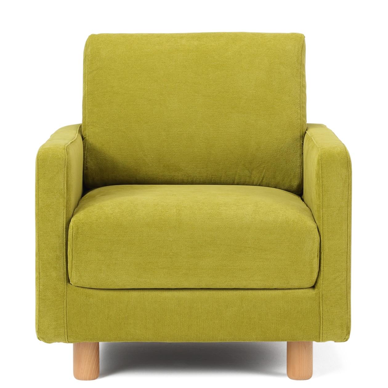 RoomClip商品情報 - 綿シェニール・グリーン・ソファ本体スリムアーム用カバー 1シーター用/グリーン