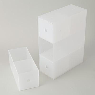 無印良品   ポリプロピレン小物収納ボックス3段・A4タテ約幅11×奥行24.5×高さ32cm 通販