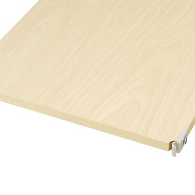 スチールユニットシェルフ・木製追加棚・グレー