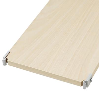 スチールユニットシェルフ・奥行25cmタイプ・追加用木製棚ワイド