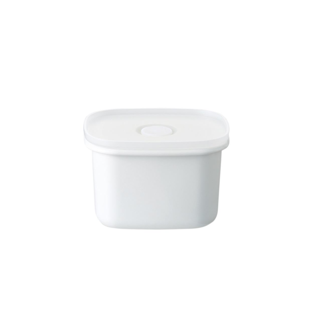 液体とニオイが漏れない バルブ付き密閉ホーロー保存容器 深型・小