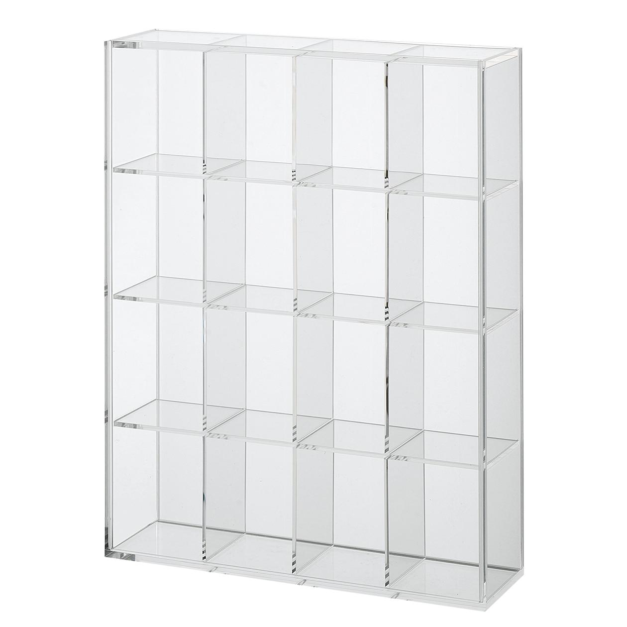 後ろが透けないアクリルコレクションボックス・4×4小間