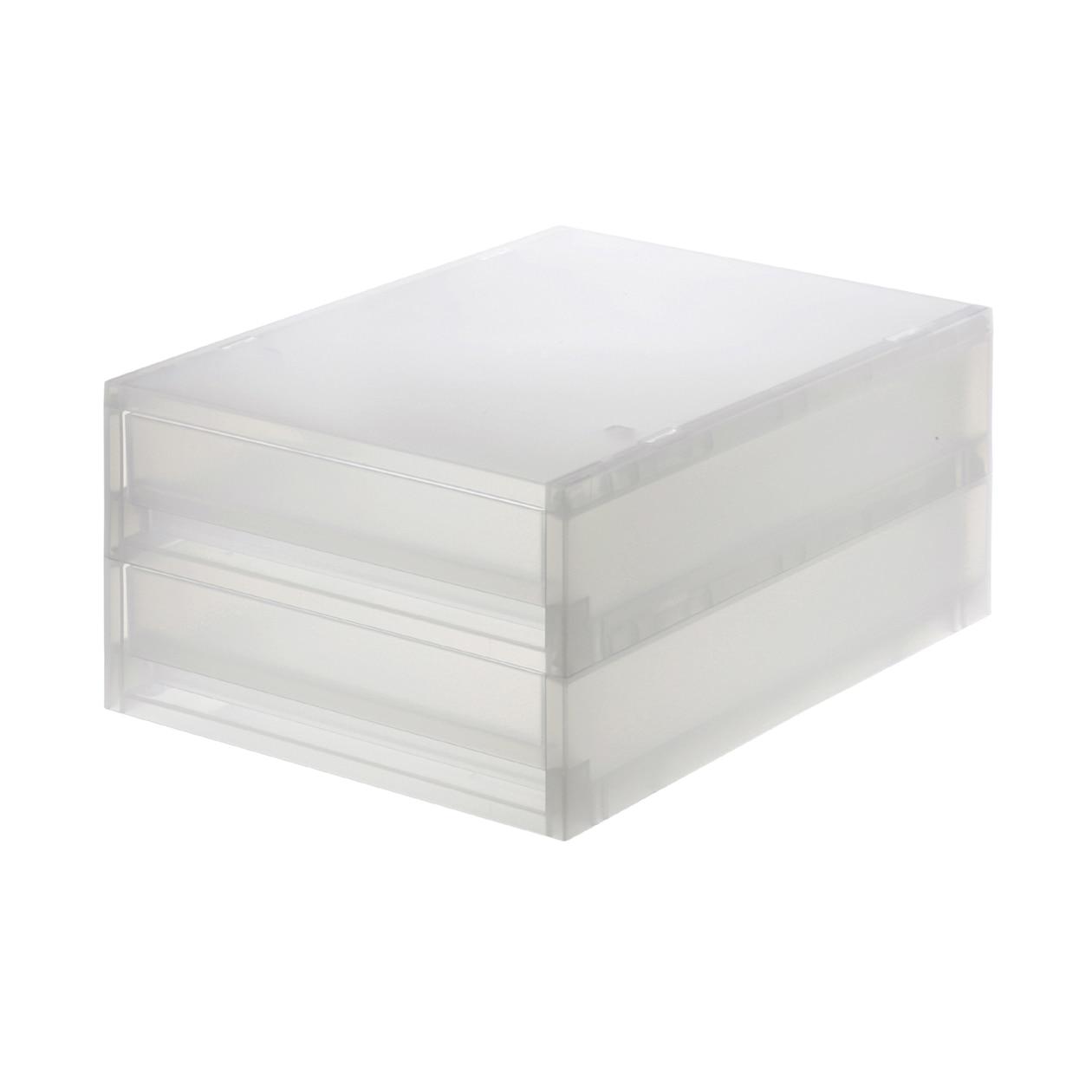 RoomClip商品情報 - PPケース引出式薄型2段・4個組【まとめ買い】