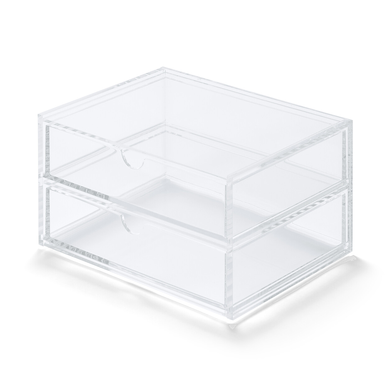 ACRYLIC CASE W/DRAWER 2ROWS CLEAR