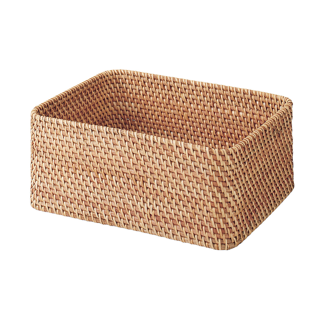 Rattan Stackable Rectangle Basket