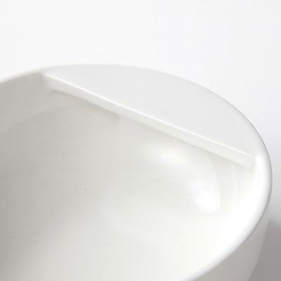 磁器ベージュお玉おき 約直径10.5×高さ4cm