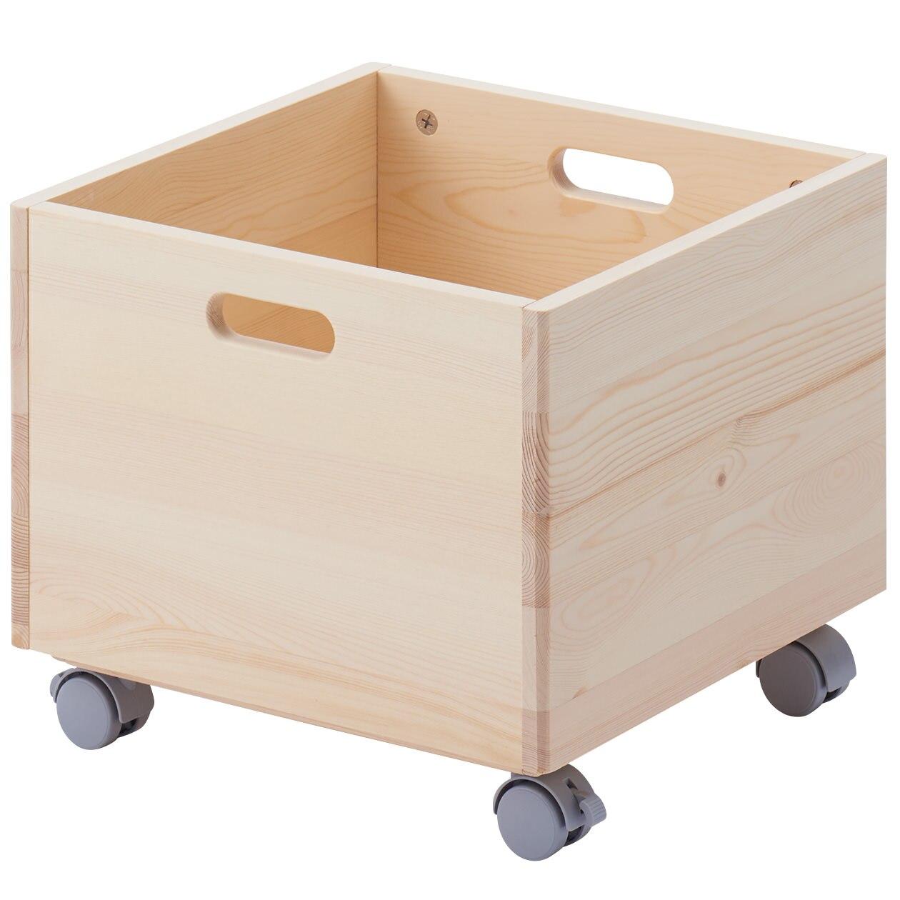 RoomClip商品情報 - パイン材収納BOX・キャスター付き