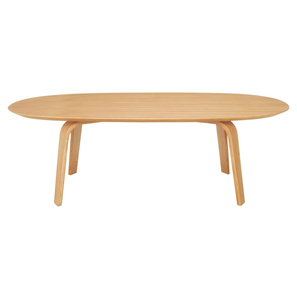 座テーブル・積層合板/タモ材・幅110cm