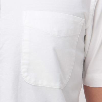 Organic Cotton Oxford Button Down S S Shirt Men M Blue Muji
