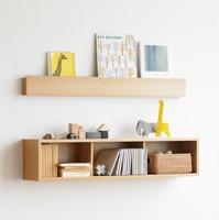 壁に付けられる家具・棚・幅44cm・オーク材 幅44×奥行12×高さ10cm