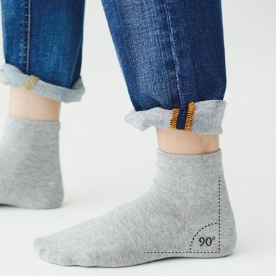 【未使用】無印良品 足なり直角靴下 レディース 3足セット