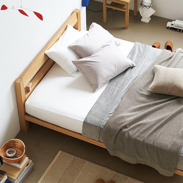 オーク材・無垢材ベッド